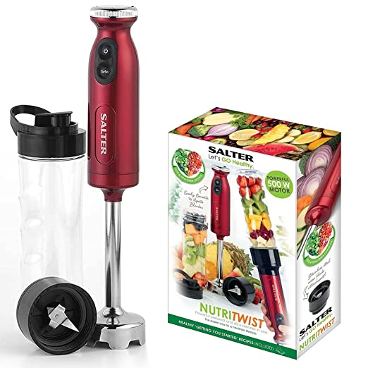Salter EK2187 Salter NutriTwist Power Blender Smoothie Shake Maker, Red