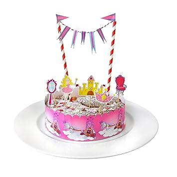 Frau Wundervoll Kuchen Deko Set Fee Kuchengirlande Geburtstag