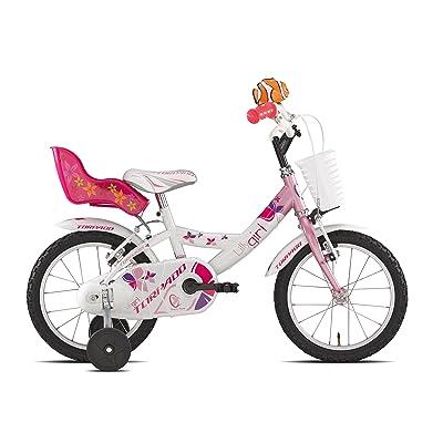 "'Torpado vélo Junior Lilly 14""pour fille 1V Blanc Rose (enfant)/Bicycle Junior Lilly 14Girl 1V White Pink (Kid)"