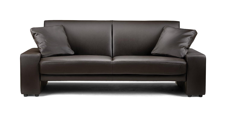 Julian Bowen Faux Leather Supra Sofa, Brown: Amazon.co.uk: Kitchen & Home