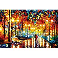 1000-Pieces Jigsaw Puzzles-Romantic Street Scene