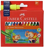 Faber-Castell Jumbo Wax Crayons - 24 Shades