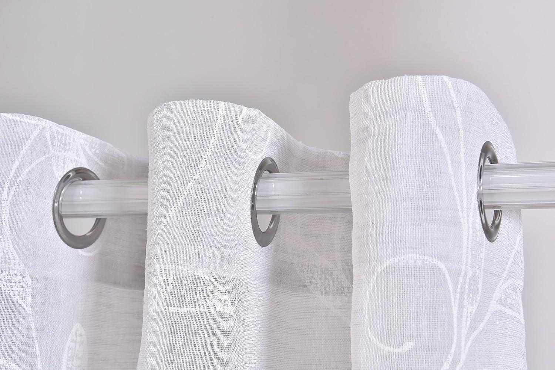 PimpamTex Tende traslucida con 8 ochielli (1 unitá, 140x260) per soggiorno, camera da letto e camera. Modello Clavel (Grigio perla) Pisa Textil S.L.