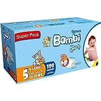 Sanita Bambi, Size 5, XL, 12-22 kg, Super Box, 108 Diapers