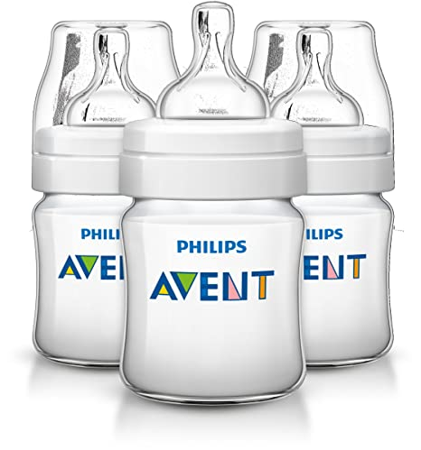 Philips AVENT SCF560/37 125ml Polipropileno (PP) Transparente, Color blanco - Biberón (Transparente, Color blanco)