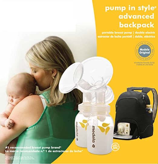 Medela, Pump in Style, Advanced Double Electric Breast Pump with Backpack, Two-Phase Expression Technology, One-Touch Let Down Button, Adjustable ...