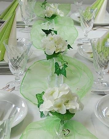 Fibula Style Komplettset Hydrangea Weiss Grun Grosse M