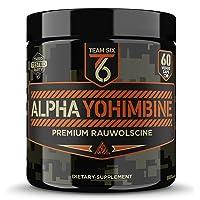 Team Six Supplements Alpha Yohimbine – Proven Yohimbe Bark Fat Burner, Weight Loss...