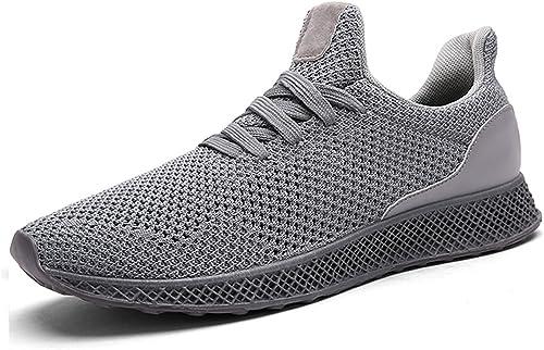 IIIIS-F Zapatillas Hombre Zapatillas Running Hombre Zapatillas Deportivas Hombre de Cordones en Gimnasio Zapatos Ligeros Zapatos Transpirables: Amazon.es: Zapatos y complementos