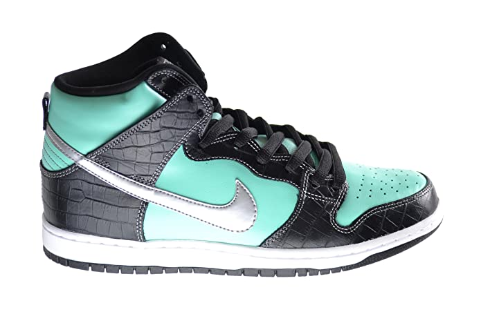 82fc0b0751 Amazon.com | Nike Dunk High Premium SB Diamond Supply Co. Men's Basketball  Shoes Aqua/Chrome-Black 653599-400 | Basketball