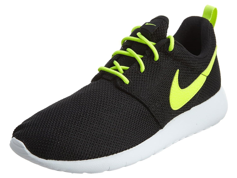 Nike Roshe Run 599729, Mauml;dchen Laufschuhe Training  65 Y US|Black/Volt-white