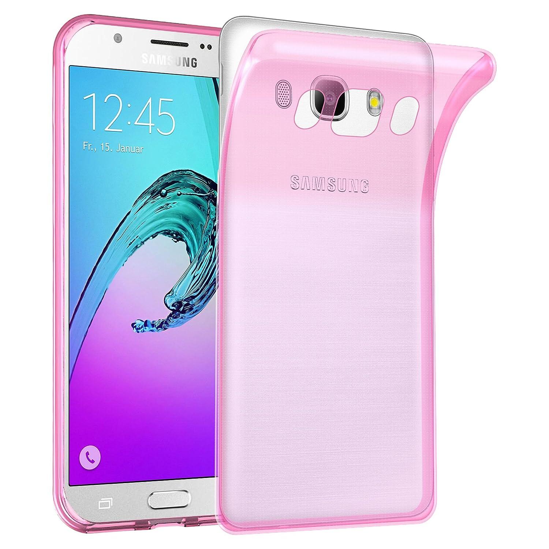 Cadorabo Funda para Samsung Galaxy J7 2016 en Transparente Rosa – Cubierta Proteccíon de Silicona TPU Delgada e Flexible con Antichoque – Gel Case ...
