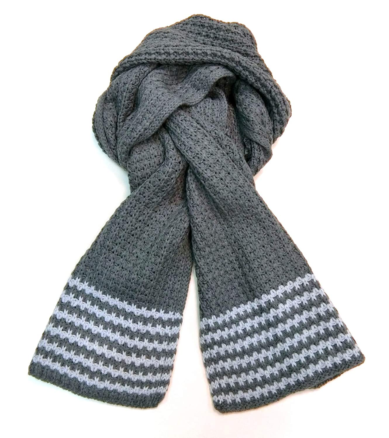 Meesty Premium Wool Feel Warm Winter Stripe Cable Knit Scarf for Men