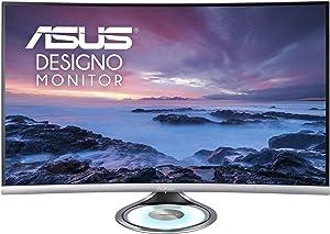 "Asus MX32VQ Designo Curved 31.5"" Monitor WQHD 75Hz DP HDMI Eye Care Monitor with Adaptive-Sync, 31.5"""