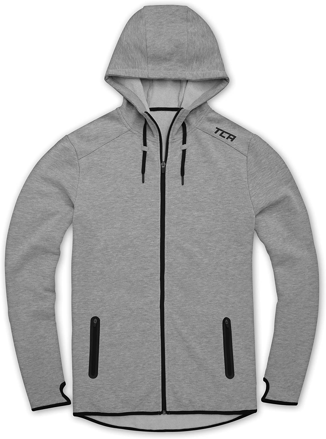 TCA Men/'s Revolution Tech Thermal Running Hoodie with Zip Pockets