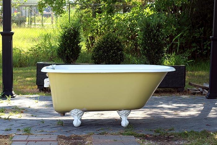 Amazon.com: 1940 Refinished 4.5\' Clawfoot Bathtub Vintage Churlish ...