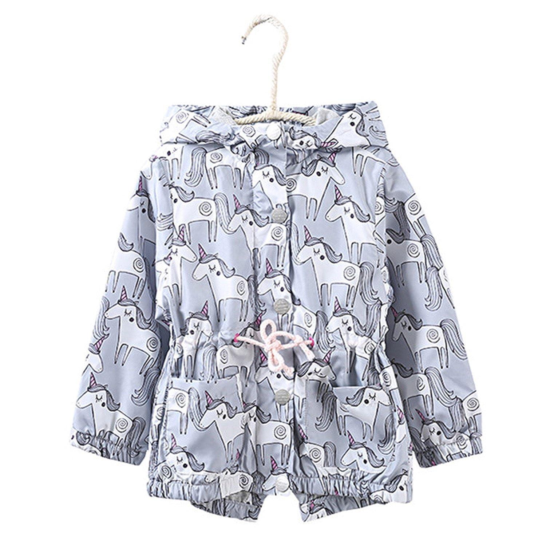 280e58614341 David Nadeau Baby Girl Windbreaker Autumn Hooded Kids Girls Coats ...
