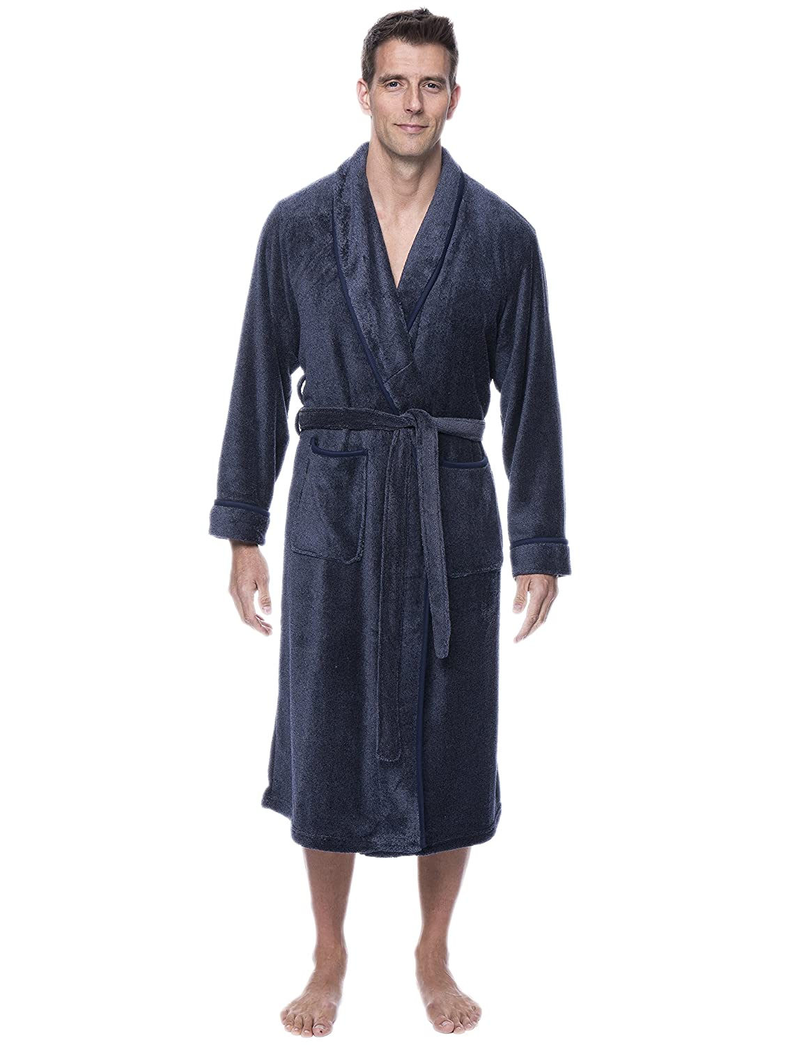 Noble Mount Mens Premium Coral Microfleece Plush Spa/Bath Robe nmt_MNRobe_coralFleece