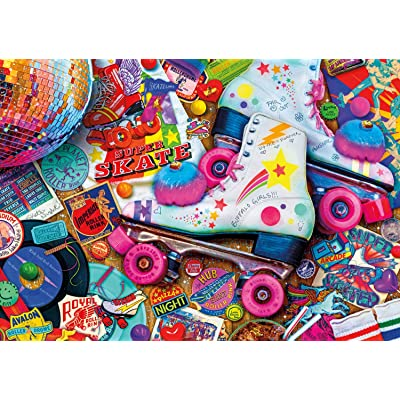 Buffalo Games - Vivid Collection - Aimee Stewart - Skate Night - 300 Large Piece Jigsaw Puzzle: Toys & Games