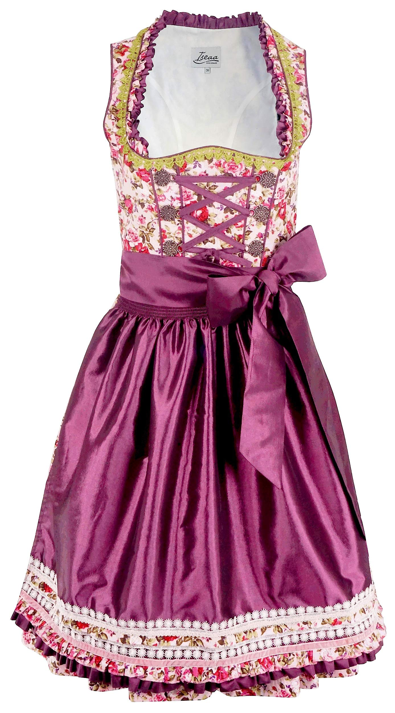 Exclusive Dirndl 2 pcs. Tilda Traditional Dress with Apron 40 Purple
