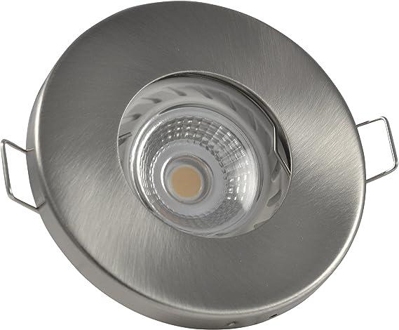 Bagno faretto da incasso ip colore acciaio spazzolato v