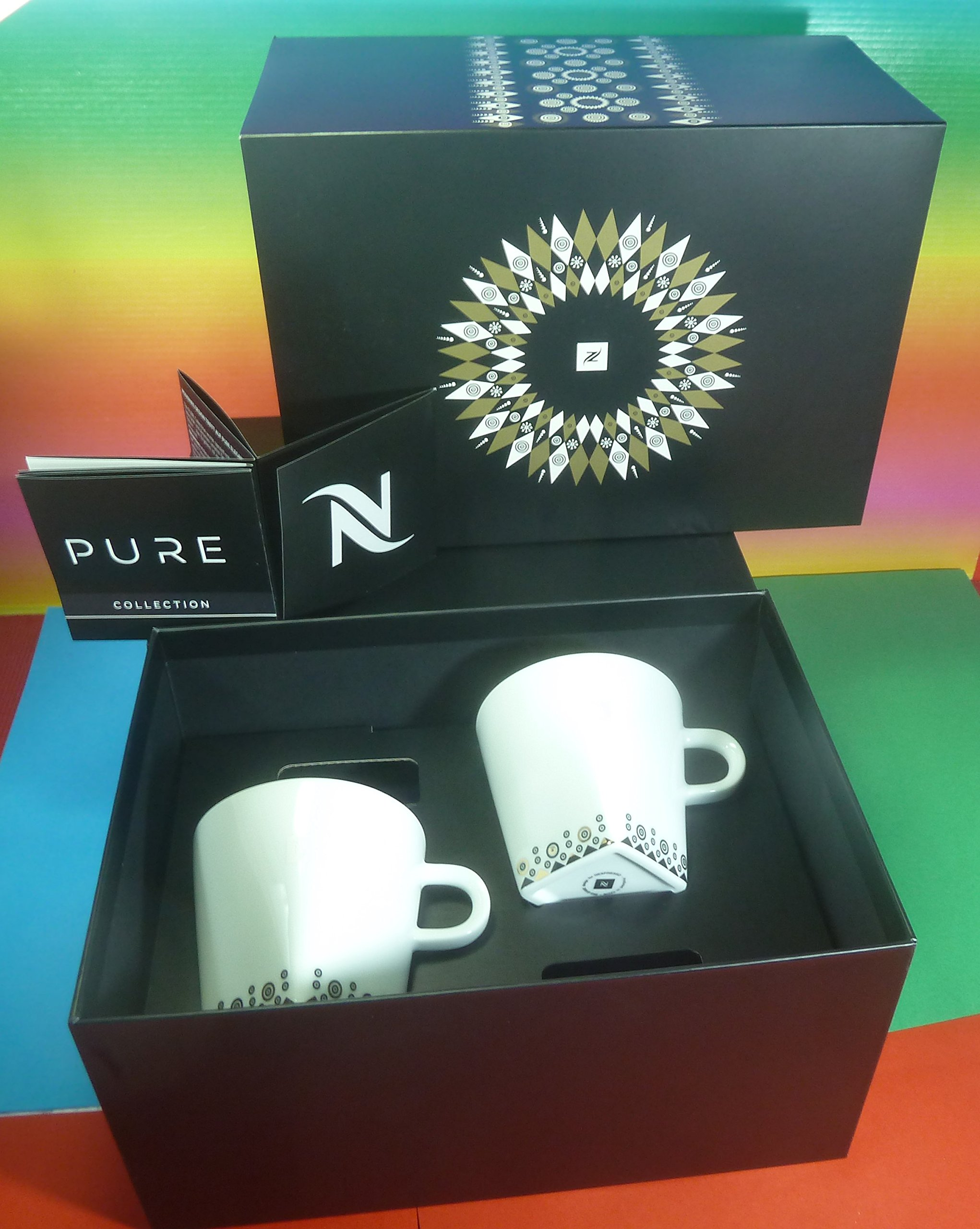 NESPESSO PURE 2 LUNGO CUPS & 2 SAUCERS, LIMITED EDITION 2016,In Brand Gift Box,NEW