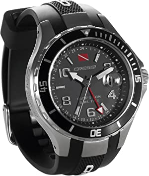 Amazon.com: Cressi Traveller Dual Time Water Resistant Watch - Black/Grey: Health & Personal Care