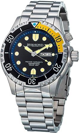Reloj Militar para Hombre, 100 ATM, con válvula de Helio y