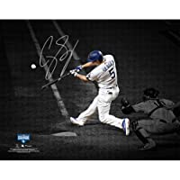 """$189 » Corey Seager Los Angeles Dodgers Autographed 2020 MLB World Series Champions 8"""" x 10"""" Hitting Spotlight…"""