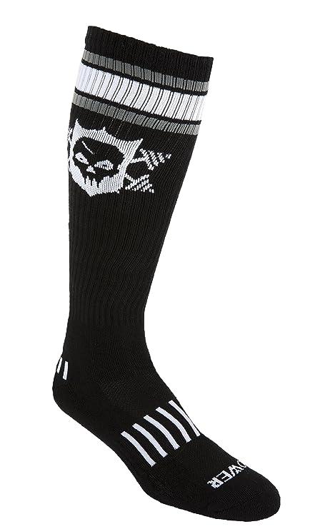 b94695e0d65 Amazon.com  MOXY Socks Powerful Power Skull Knee-High Fitness Deadlift Socks   Sports   Outdoors