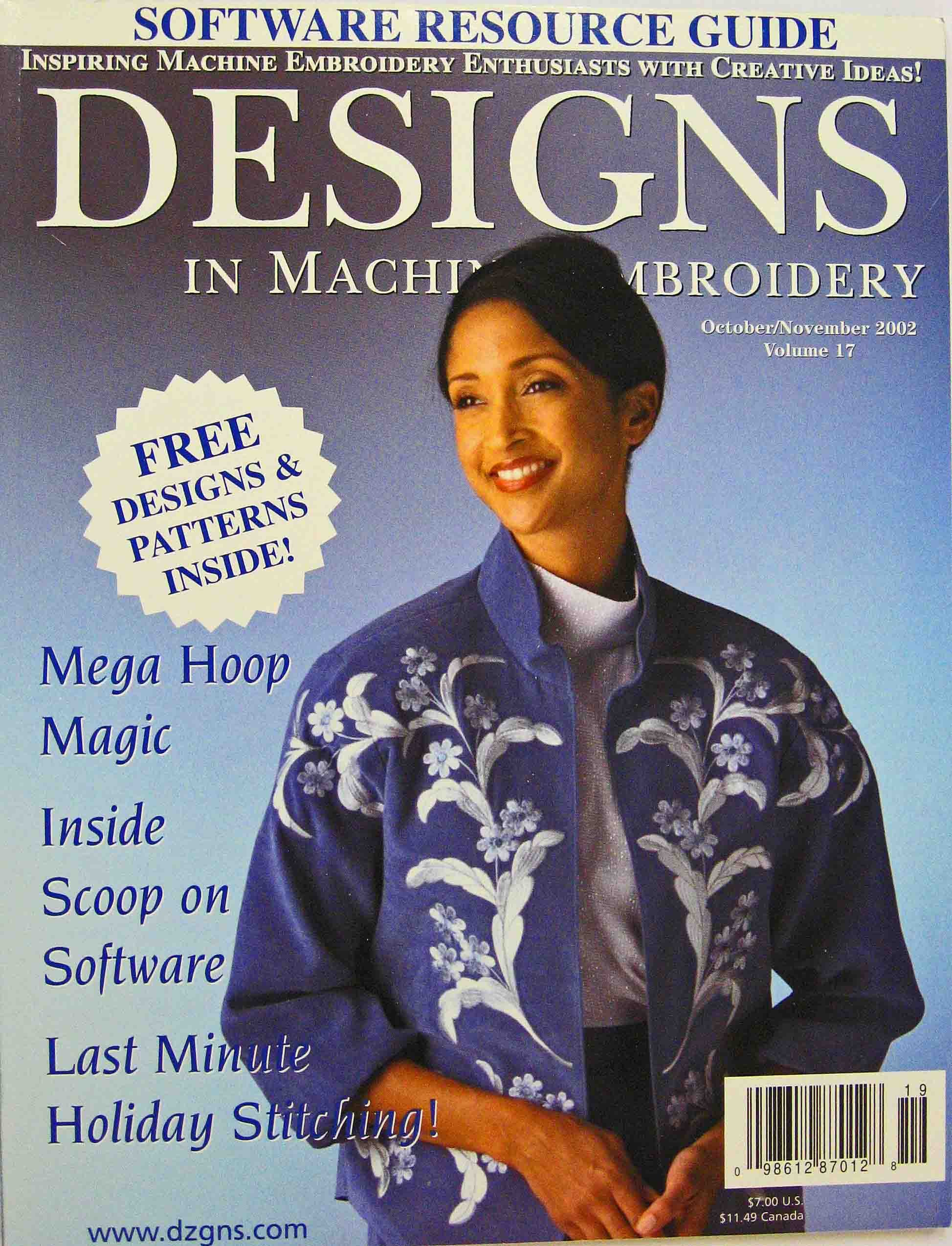 Designs In Machine Embroidery, October/November 2002, Vol