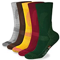 Merino Wool Hiking & Trekking Socks by DANISH ENDURANCE for Men and Women, Temperature Controlled for Spring and Summer, Soft Thermal Performance Socks for Outdoor Enthusiasts, Crew Socks with Padded Cushion to Reduce Blisters for Outdoor Activities (3 or 1 Pairs)