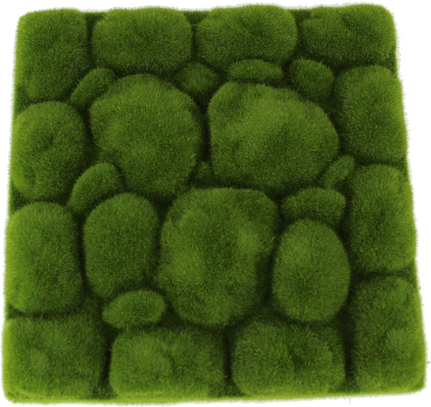 Novobey Artificial Moss Rocks 7 Pieces 3 Size Decorative Faux Green Moss Covered Stones for Floral Arrangements Fairy Gardens and Crafting