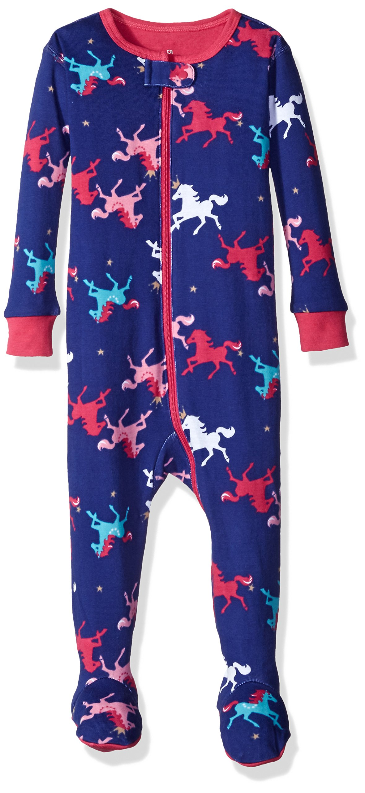 Petit Lem Girls' Printed Footed Pajamas, Circus Queen, 24M by Petit Lem