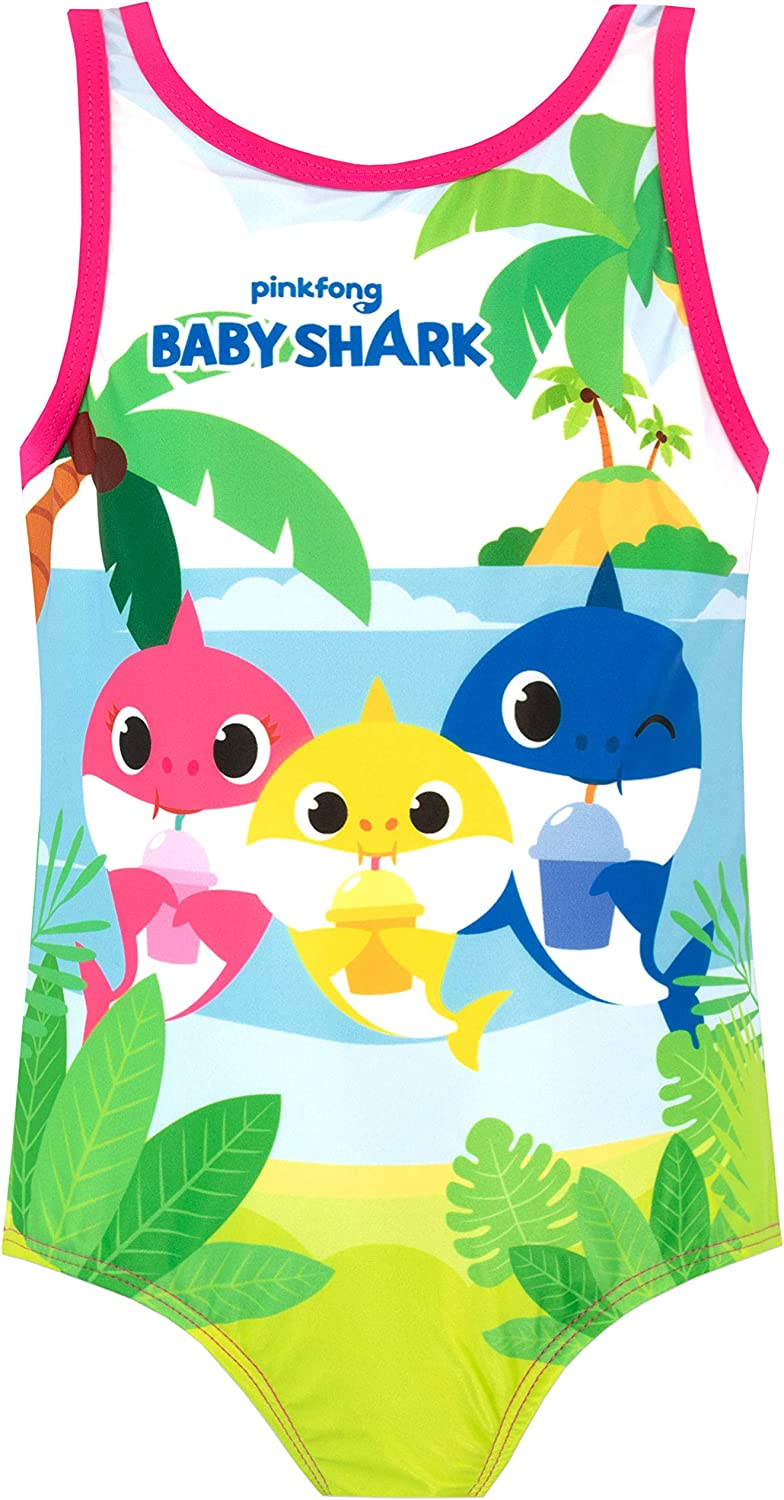 Pinkfong Girls' Baby Shark Swimsuit