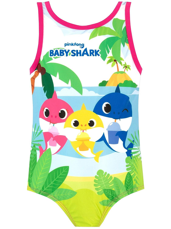 Pinkfong Girls Baby Shark Swimsuit