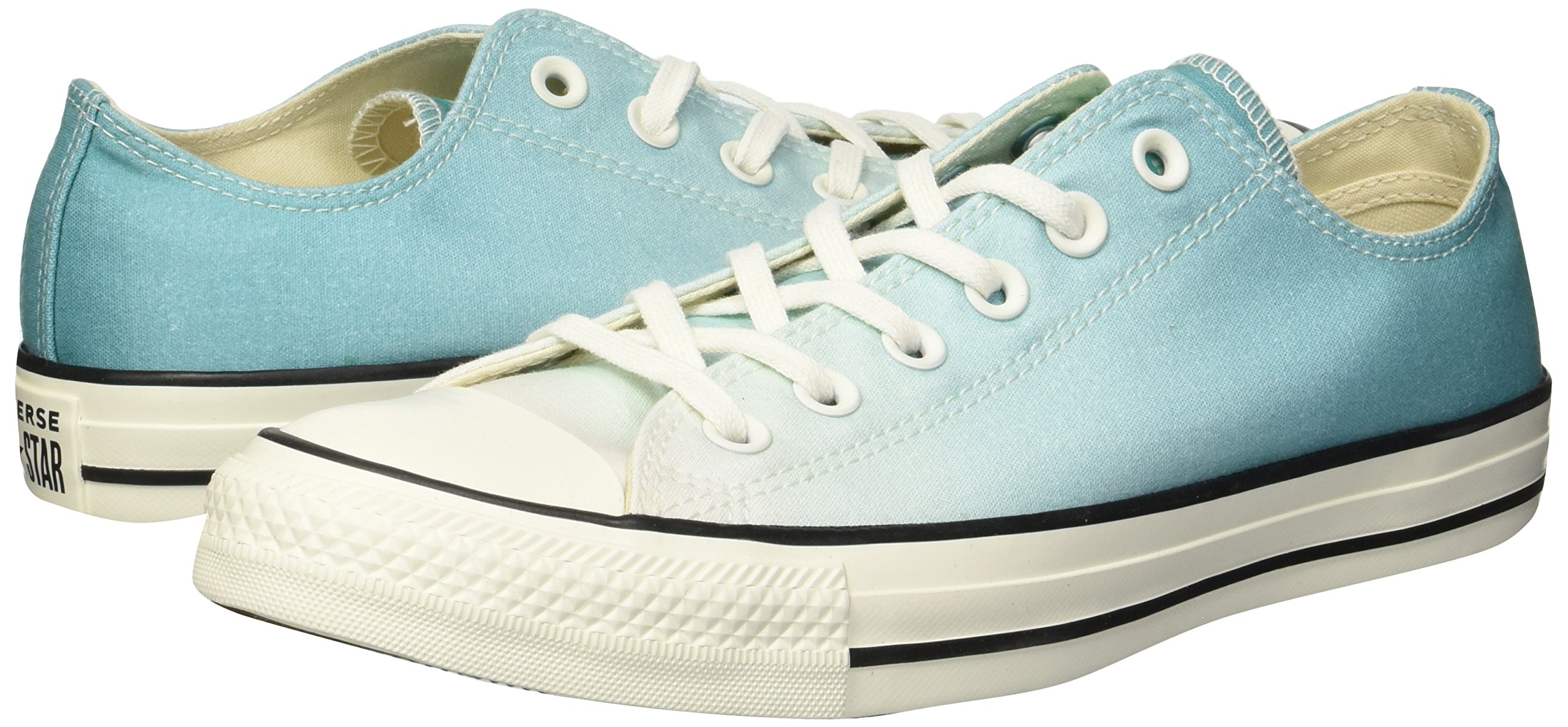 Converse Women's Chuck Taylor All Star Ombre Low TOP Sneaker, Pure Teal egret, 7.5 M US by Converse (Image #5)