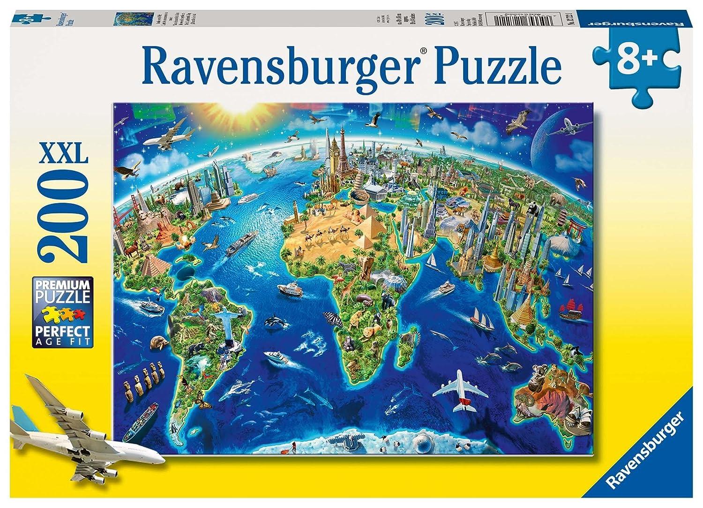 Ravensburger 12722 - Große, weite Welt – 200 Teile Puzzle Ravensburger Spielverlag Tiere Kinderpuzzles Klassische Puzzles