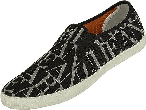 Armani Jeans - Alpargatas de Lona para Hombre, Color Gris, Talla 40: Amazon.es: Zapatos y complementos