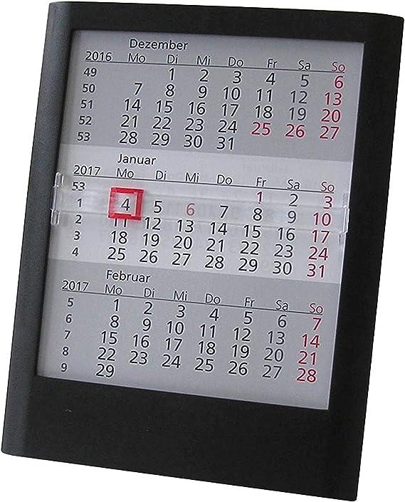 Calendario de mesa (3 meses 2017/2018 para completa 2 años mesa Calendario schiebek alender deriva Calendario: Amazon.es: Oficina y papelería