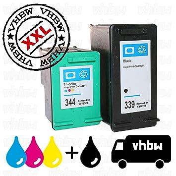 vhbw Pack de 2X Cartuchos Tinta, Cartuchos Impresora ...