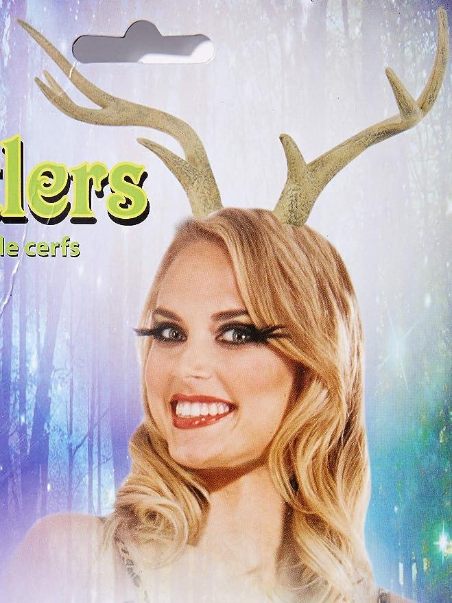 Realistic Reindeer Antlers Deer Fairy Nymph Horns Light Adult Costume Accessory