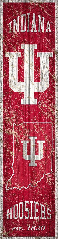 NCAA Indiana Hoosiers Unisex Indiana University Heritage Banner Vertical 6x24, Team, 6 x 24
