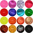 15 Piece Assorted Mini Pod Sampler Shimmer Mica & Mineral Matte Powder 1/2 Gram Each Pod For Soap Making, Cosmetic, Candle Making, Nail Art, Resin Jewelry, Acrylic and other Craft Projects