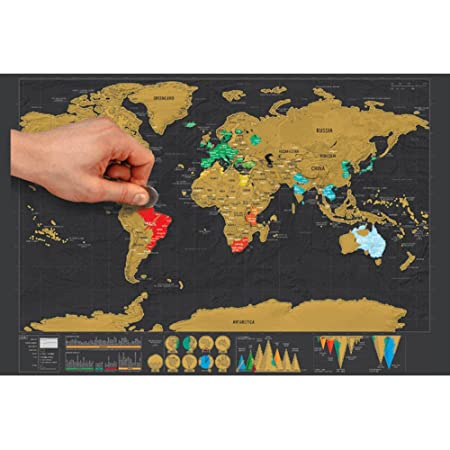 Global walkabout scratch off map deluxe travel size world map global walkabout scratch off map deluxe travel size world map poster countries and facts gumiabroncs Choice Image