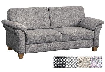 CAVADORE 3 Sitzer Baltrum Im Landhausstil/Großes Sofa Mit Federkern/Landhaus  Garnitur /