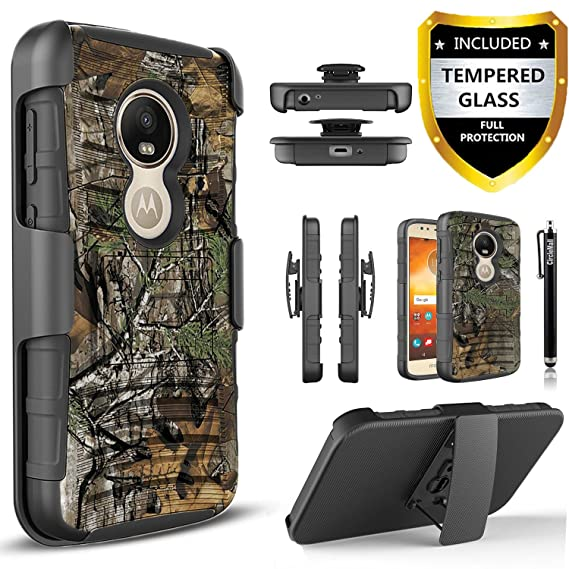 check out df669 ced80 Motorola Moto G6 Play Case, Moto G6 Forge Case with [Tempered Glass Screen  Protector],[Not Fit Moto G6/G6 Plus] Built-in Kickstand and Stylus ...