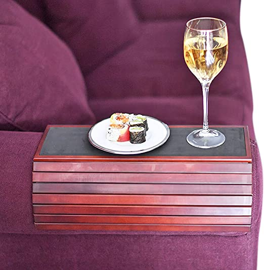 Flexible Wooden Sofa Arm Tray Table by Home-X