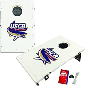Victory Tailgate South Carolina Beaufort Sand Sharks Baggo Cornhole Boards Set, NCAA Classic (Includes Matching Bags!)