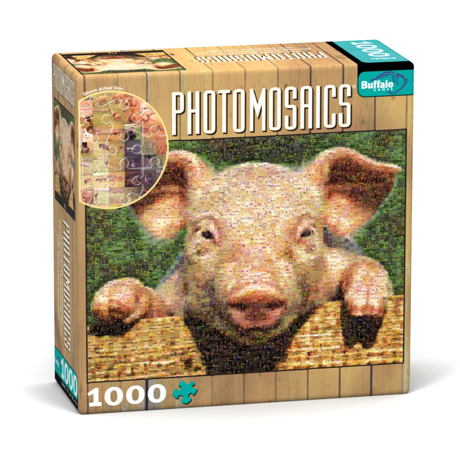 Buffalo Games Photomosaic, Pig - 1000pc Jigsaw Puzzle by Buffalo Games (Image #1)